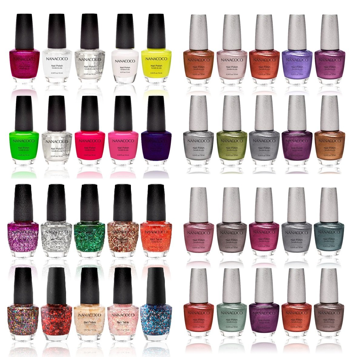 Amazon.com: Nanacoco Nail Polish Color Lacquer Set 10-Piece Random ...