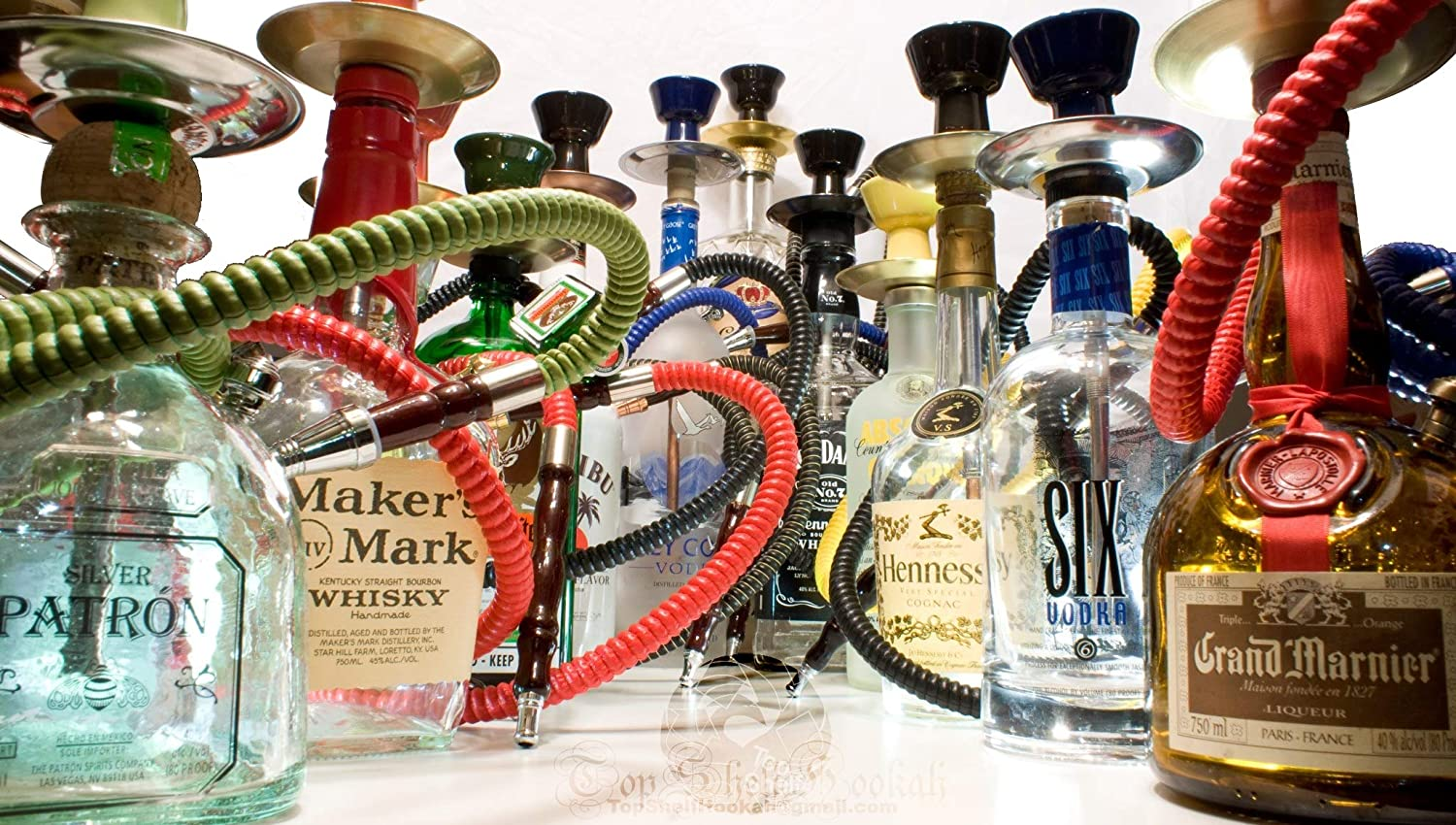 Amazon.com: Patron Silver Tequila Liquor Bottle Hookah 1 Hose 750ml Handcrafted: Health & Personal Care