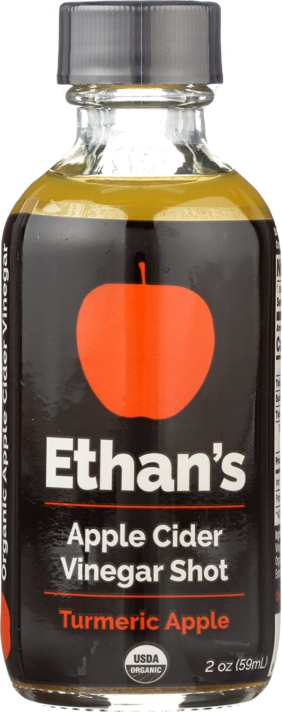 Ethan's Apple Cider Vinegar Shots, Turmeric Apple (Pack of 12)