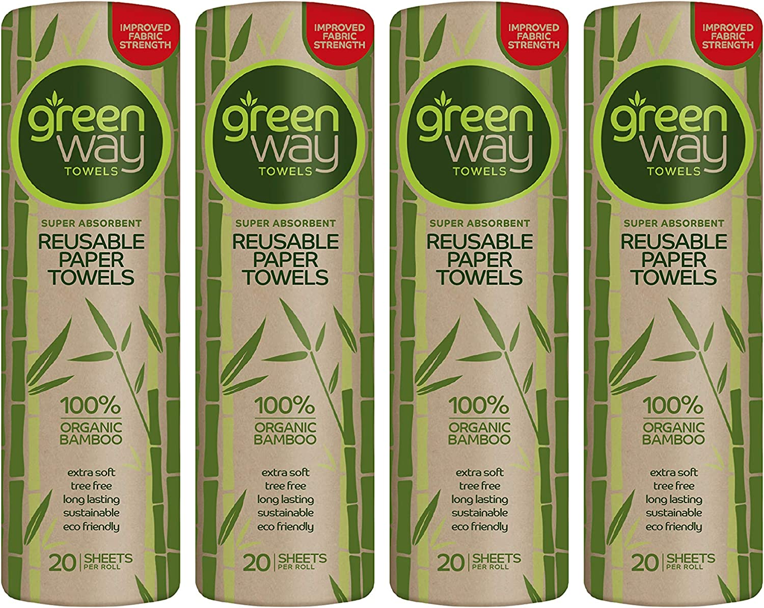 Greenway Towels Bamboo Paper Towels Eco Friendly Products - Machine Washable/ReusableFree Washing Bag Included