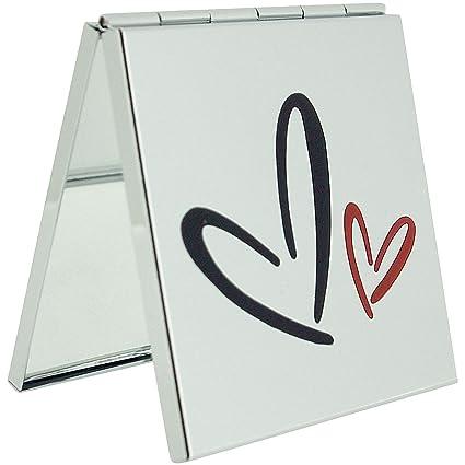 La verdadera FMG corazón doble plateado de cuero del abrigo y de la 2 x aumento