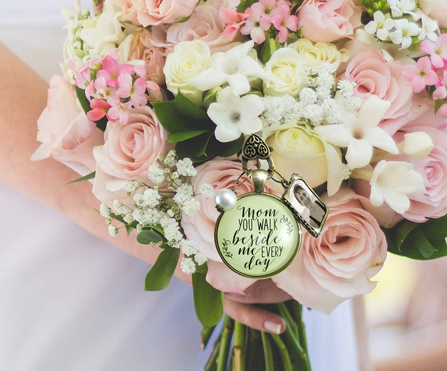 Glass Photo Wedding Bouquet Charm Custom Made For You Personalized Memorial New For Sale Jewelry & Watches