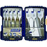Irwin 10506629 Blue Groove 4X Coffret de 8 Mèches à bois plates