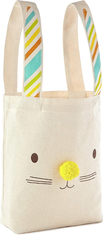 Hallmark Large Easter Canvas Tote Bag (Bunny Ears) for Easter Baskets, Egg Hunts, Spring Birthdays and More best easter baskets