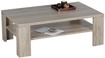Stella Trading Osaka Couchtisch Holz San Remo Eiche Hell 110 X 70