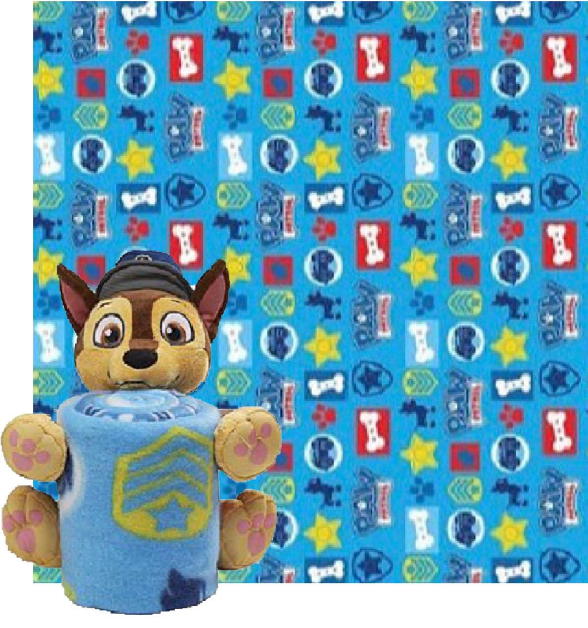 Paw Patrol Fleece Throw Blanket & Chase Cuddle Plush Toy - Kids
