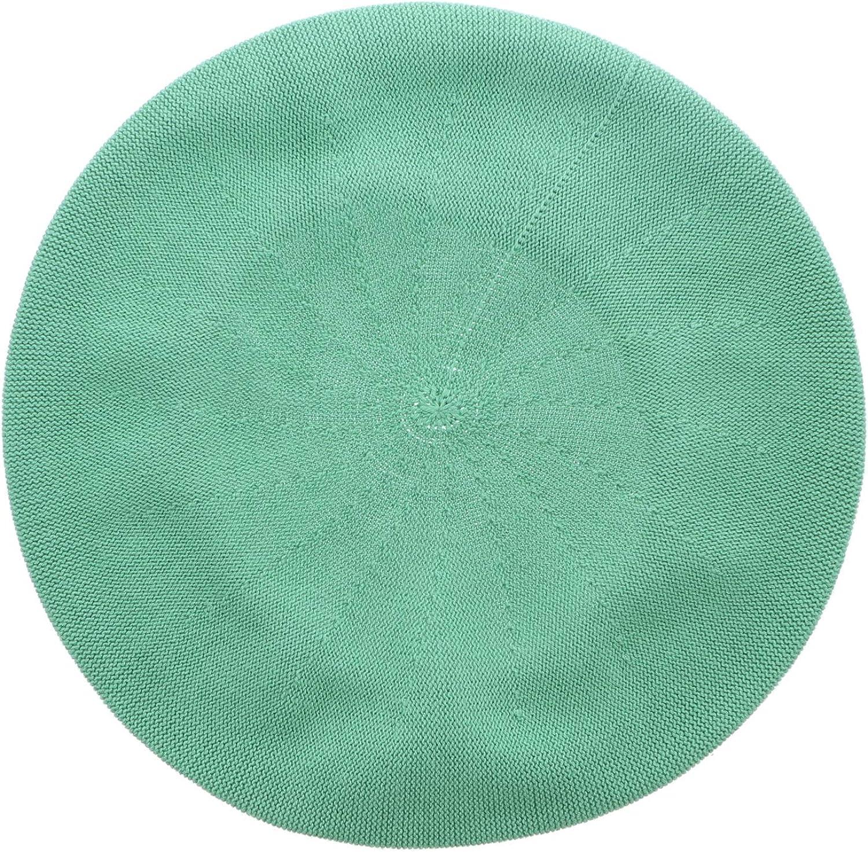 Landana Headscarves Beret for Women 100% Cotton Solid - Medium/Large