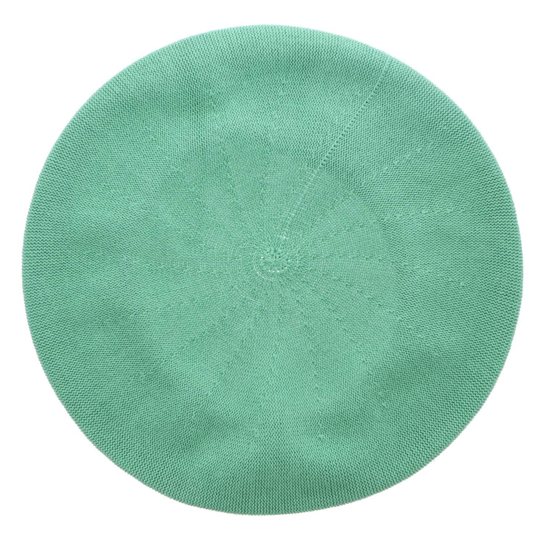 Landana Headscarves Beret for Women 100% Cotton Solid - Medium/Large (Apple Green)