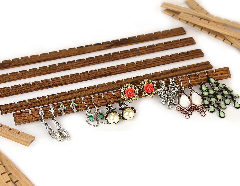 Amazon Com Custom Wood Earring Slats For Diy Jewelry Organizer Frames Handmade
