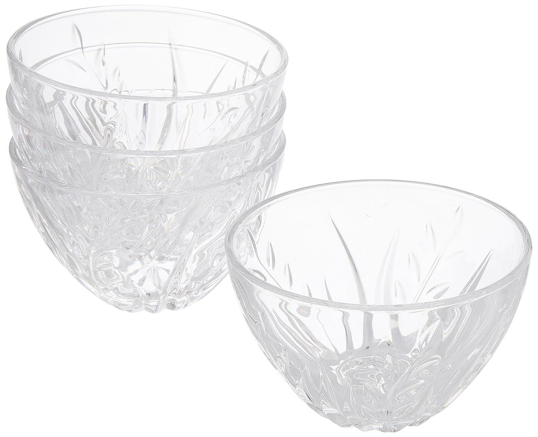 Cristal D'Arques Cassandra Salad/Serving Bowls Set of 4 Small 13cm/5