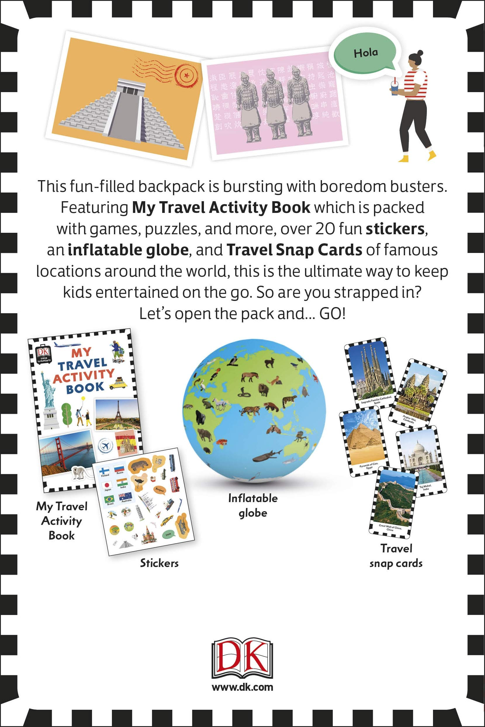 Travel Activity Pack: Fun-filled Backpack Bursting with Games and Activities Idioma Inglés Dk: Amazon.es: DK: Libros en idiomas extranjeros
