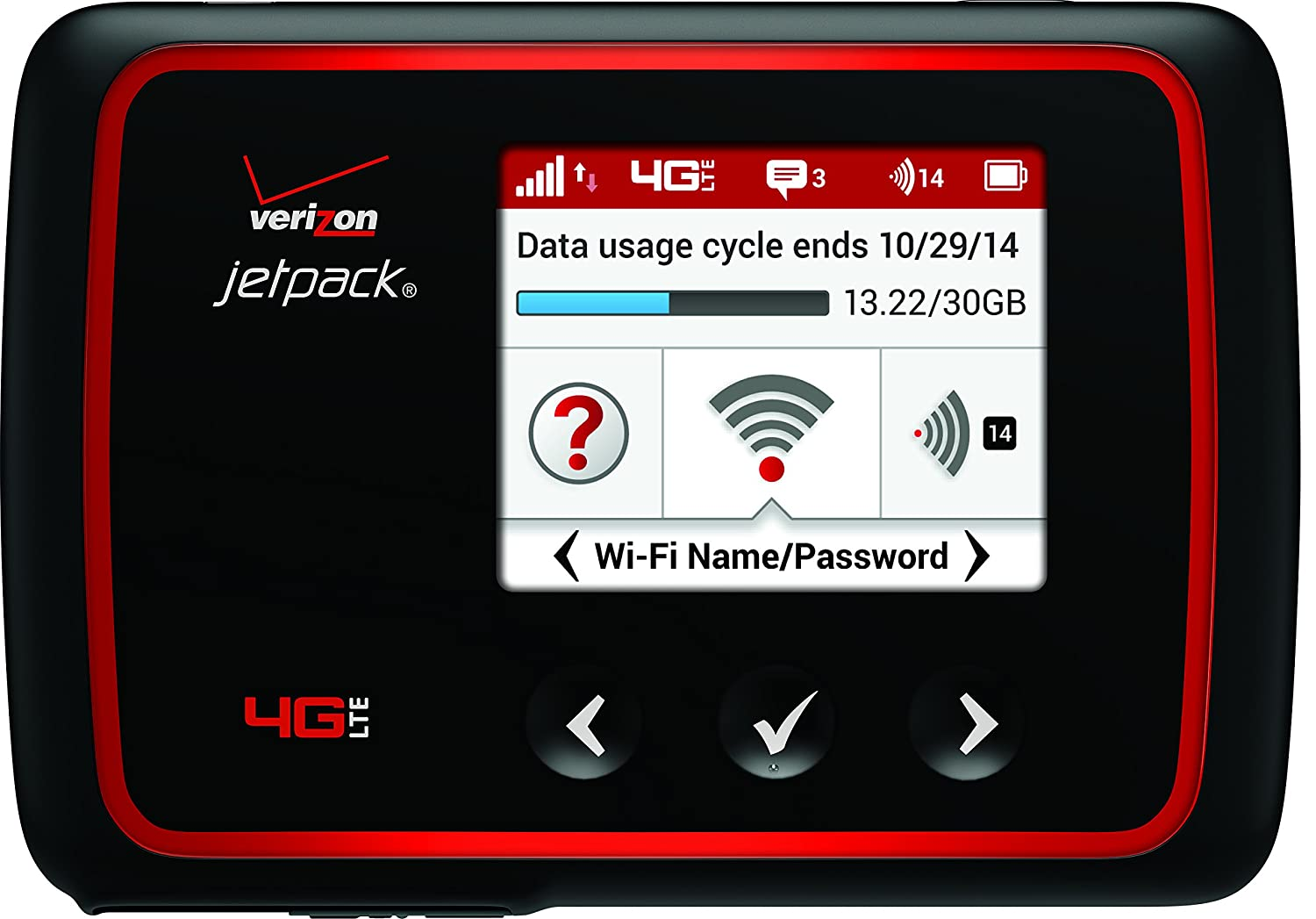 B00NTJKAXG Verizon MiFi 6620L Jetpack 4G LTE Mobile Hotspot (Verizon Wireless) 81vEsM235cL._SL1500_