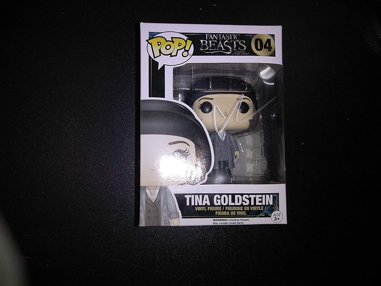 KATHERINE WATERSTON - Autographed Signed TINA FUNKO POP 04 Vinyl Figure FANTASTIC BEAST THE CRIMES OF GRINDELWALD Harry Potter COA