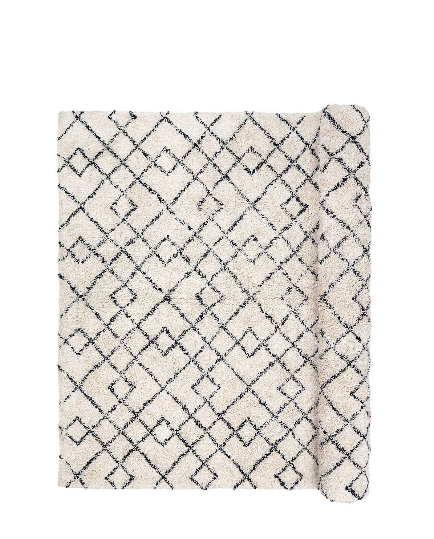 Janson Teppich, schwarz & elfenbein, Broste Copenhagen 140 x 200 cm