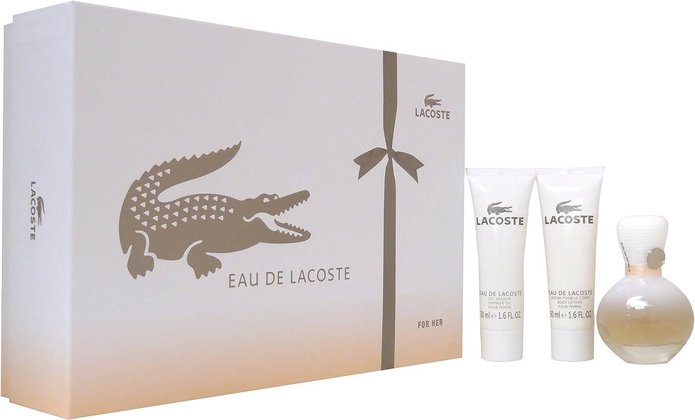 Lacoste Perfume de Mujer: Eau De Parfum Spray 50ml / 1.6oz + Loción Corporal 50ml / 1.6oz + Gel de Ducha 50ml / 1.6oz 3 pcs: Amazon.es: Belleza