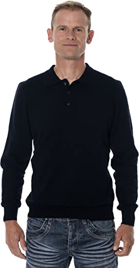 UGHOLIN - Pull col Polo - Homme - 100% Laine