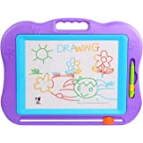 Large Magnetic Colorful Erasable Baby/Kids Skill Development Drawing Board Blackboard 30×22cm, Purple