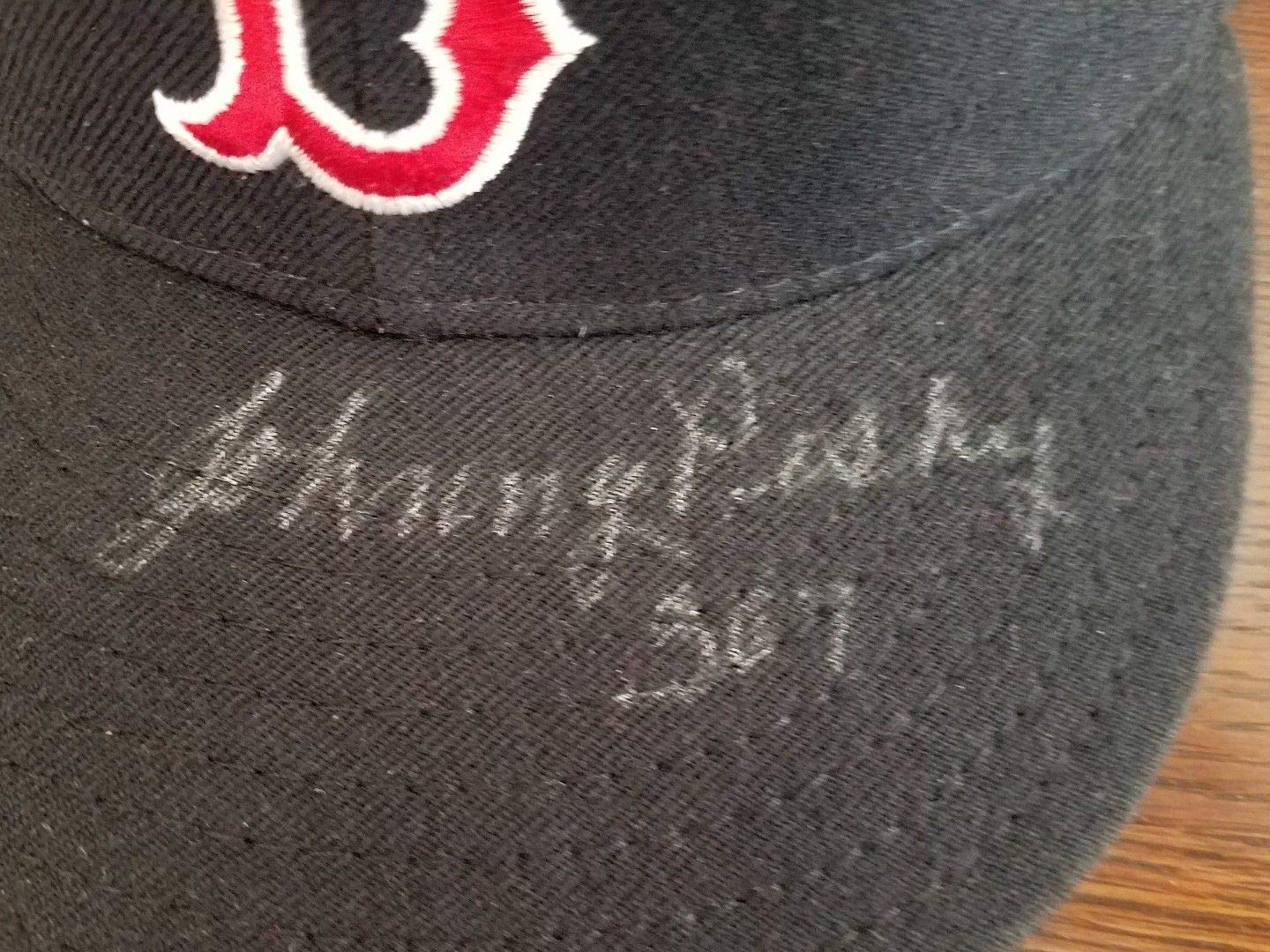 Johnny Pesky Autographed Signed Autograph 307 Boston Red Sox Hat Sports Memorabilia JSA Certified Memorabilia Auto Cap