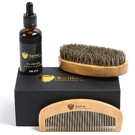 Kit para el cuidado y corte de barba, para hombres de ...