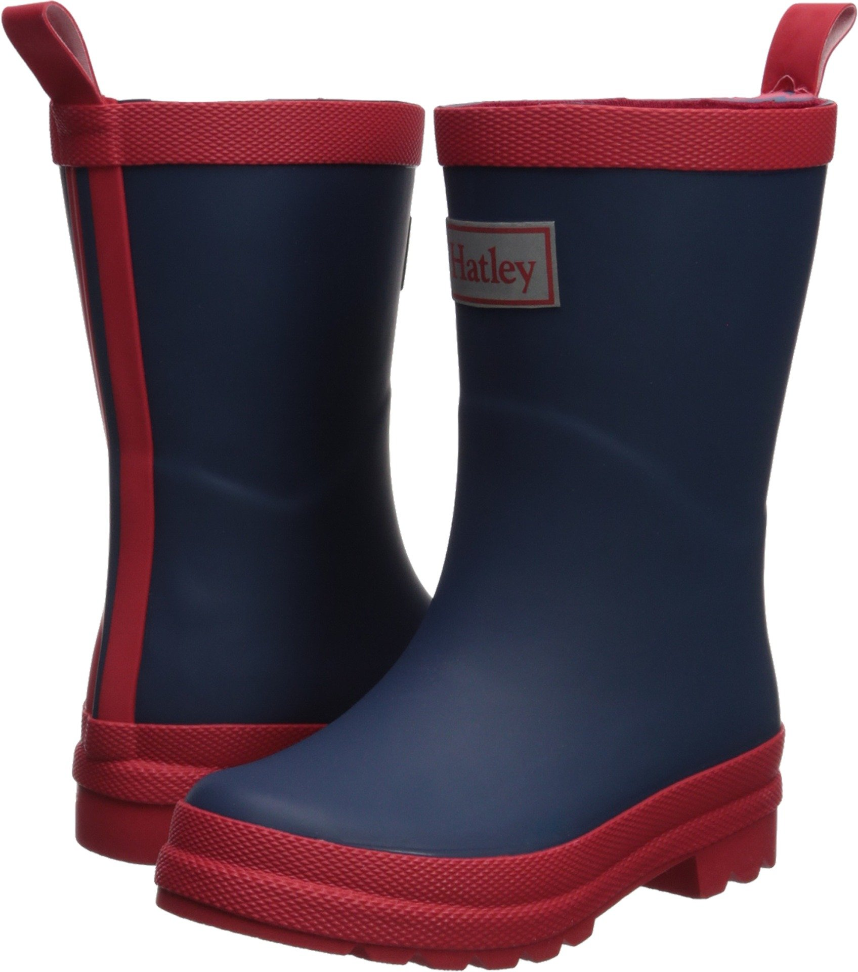 Hatley Kids' Little Classic Rain Boots, Navy and Red, 13 US Child
