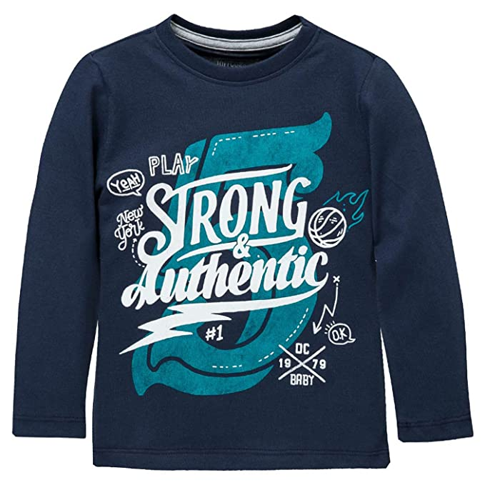 OFFCORSS Boys Long Sleeve Tshirt Camiseta Para Niños Manga Larga Blue 12 Months