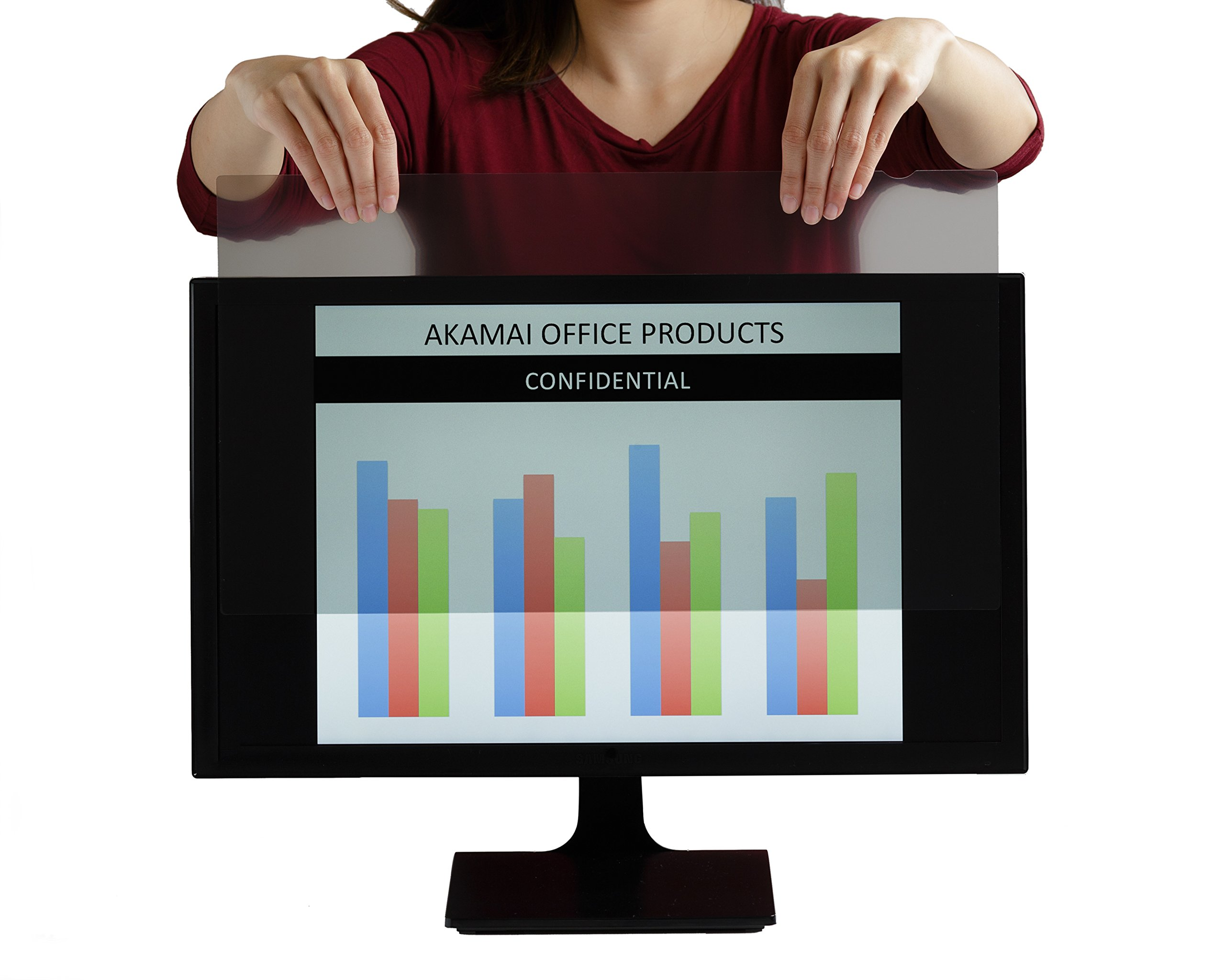 Akamai Office Products 22.0 Inch (Diagonally Measured) Privacy Screen Filter Widescreen Computer Monitors-Anti-Glare (AP22.0W) PLEASE MEASURE CAREFULLY by Akamai Office Products (Image #3)