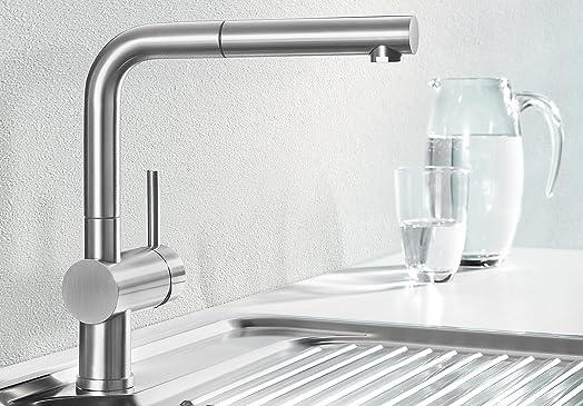 Blanco Linus-S Vario Kitchen Tap Metallic Surface Chrome High ...