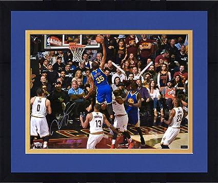 Framed Kevin Durant Golden State Warriors Autographed 16 quot  x 20 quot   2017 NBA Finals Dunk 058c8cb58