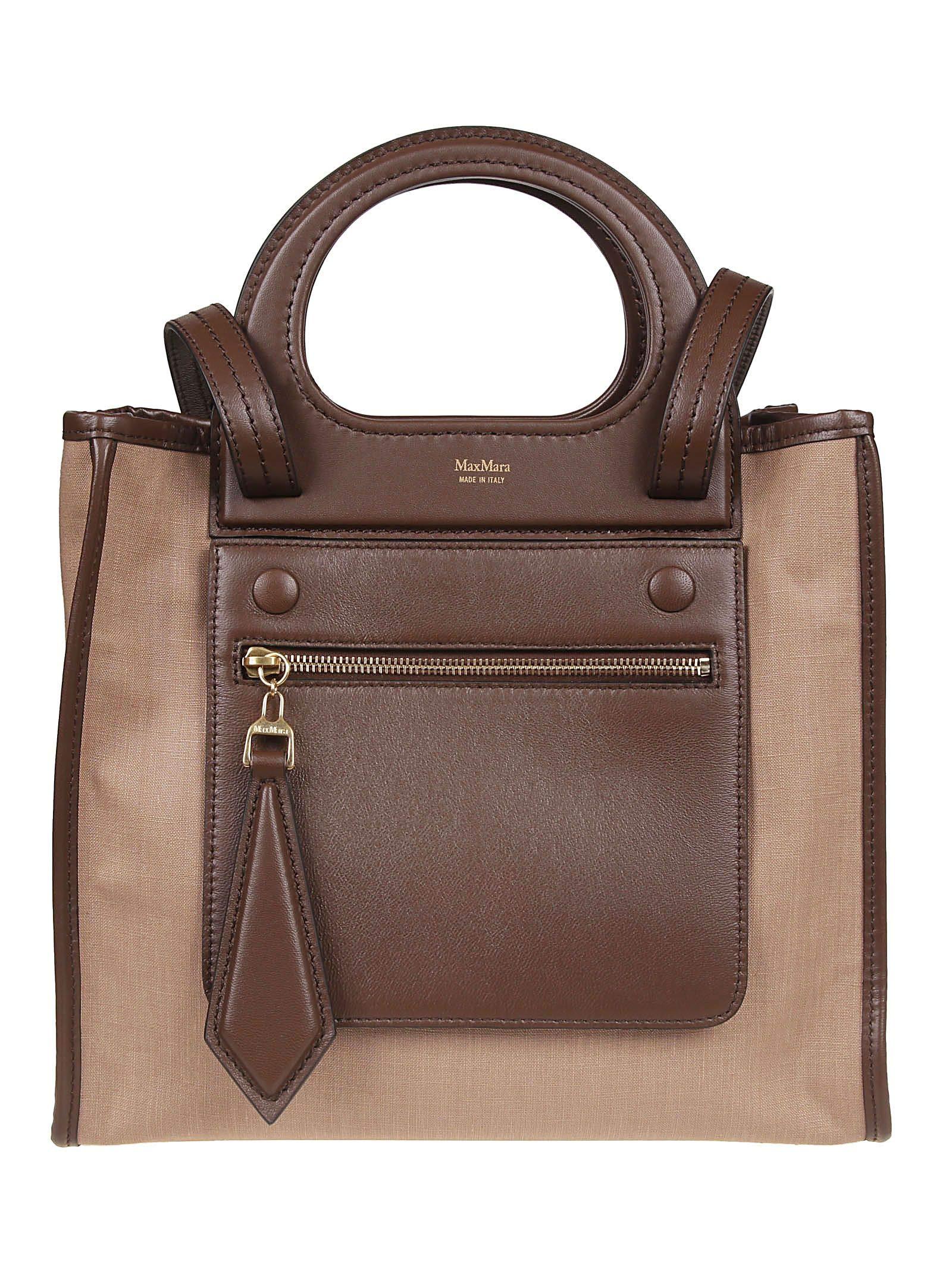 Max Mara Women's 45112091600008 Brown Leather Tote