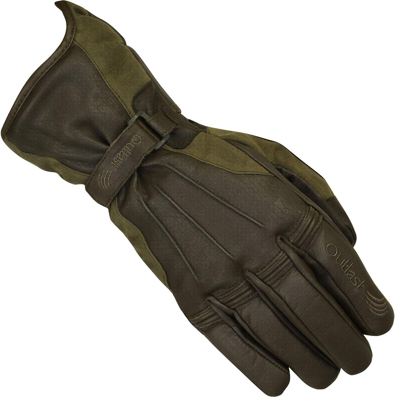 Black Small Merlin Darwin Wax Outlast Waterproof Motorcycle Gloves