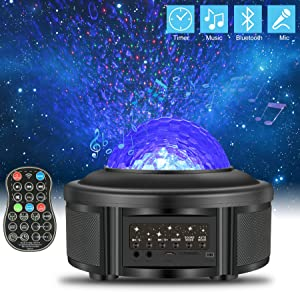 efluky Star Projector with Bluetooth Music Speaker,USB Galaxy Projector with LED Night Light for Room Decor for Kids Bedroom/Home/Room,Starry Night Lights for Kids with Timer,Best Gifts