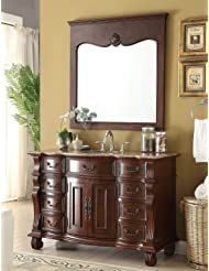 "50"" Hopkinton Bathroom sink vanity cabinet w/matching mirror Model BA-4437-50BN"
