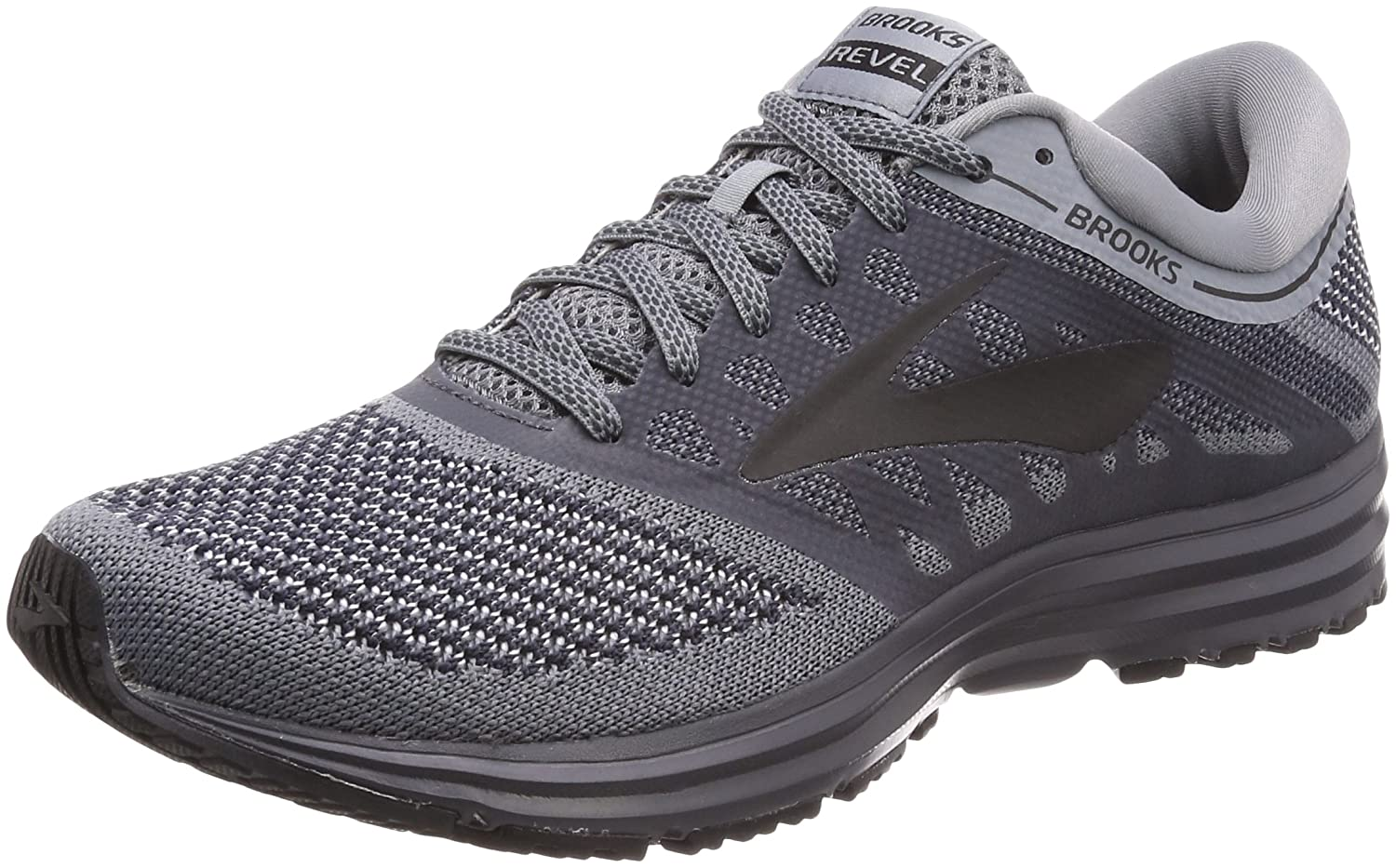 Brooks Mens Revel B072HTPF4W 10 D(M) US|Grey/Ebony/Black