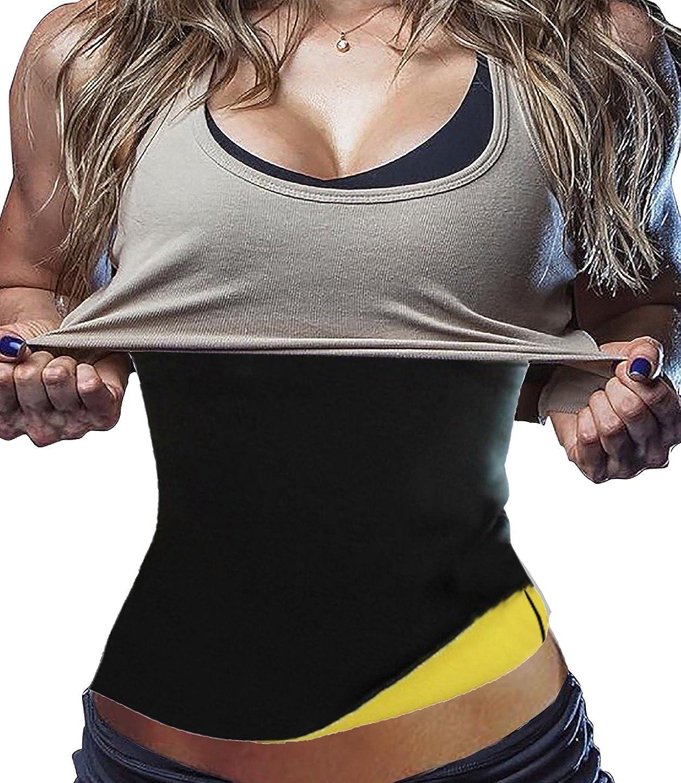 5b9069453f3 Hot Thermo Sweat Neoprene Shapers Slimming Belt Waist Cincher Girdle at  Amazon Women s Clothing store