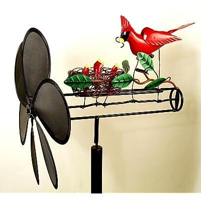 Cardinal Nest Whirligig Pinwheel: Home & Kitchen