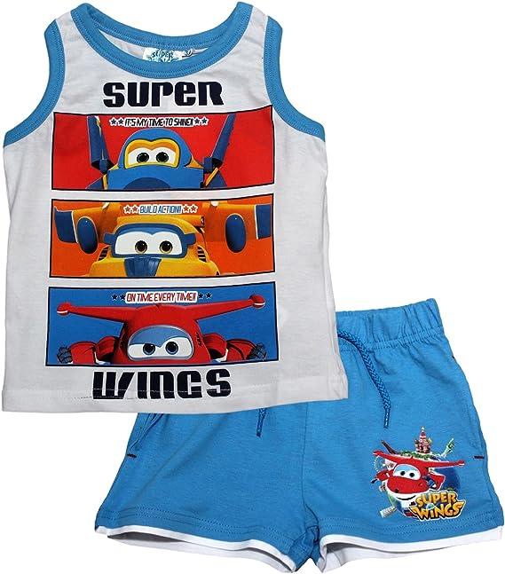 Super Wings - Pijama Dos Piezas - para niño Blanco/Azul 3 años