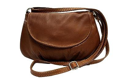 bfff390c5eca Sac bandoulière cuir Adriana - Camel Foncé - sac cuir femme