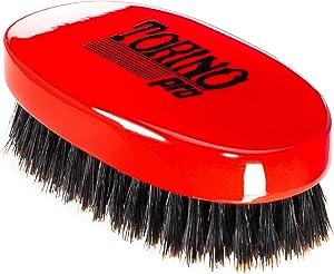 Torino Pro Wave Brush #1000 - By Brush King - Medium Hard Oval Palm/Military 360 Waves Brush