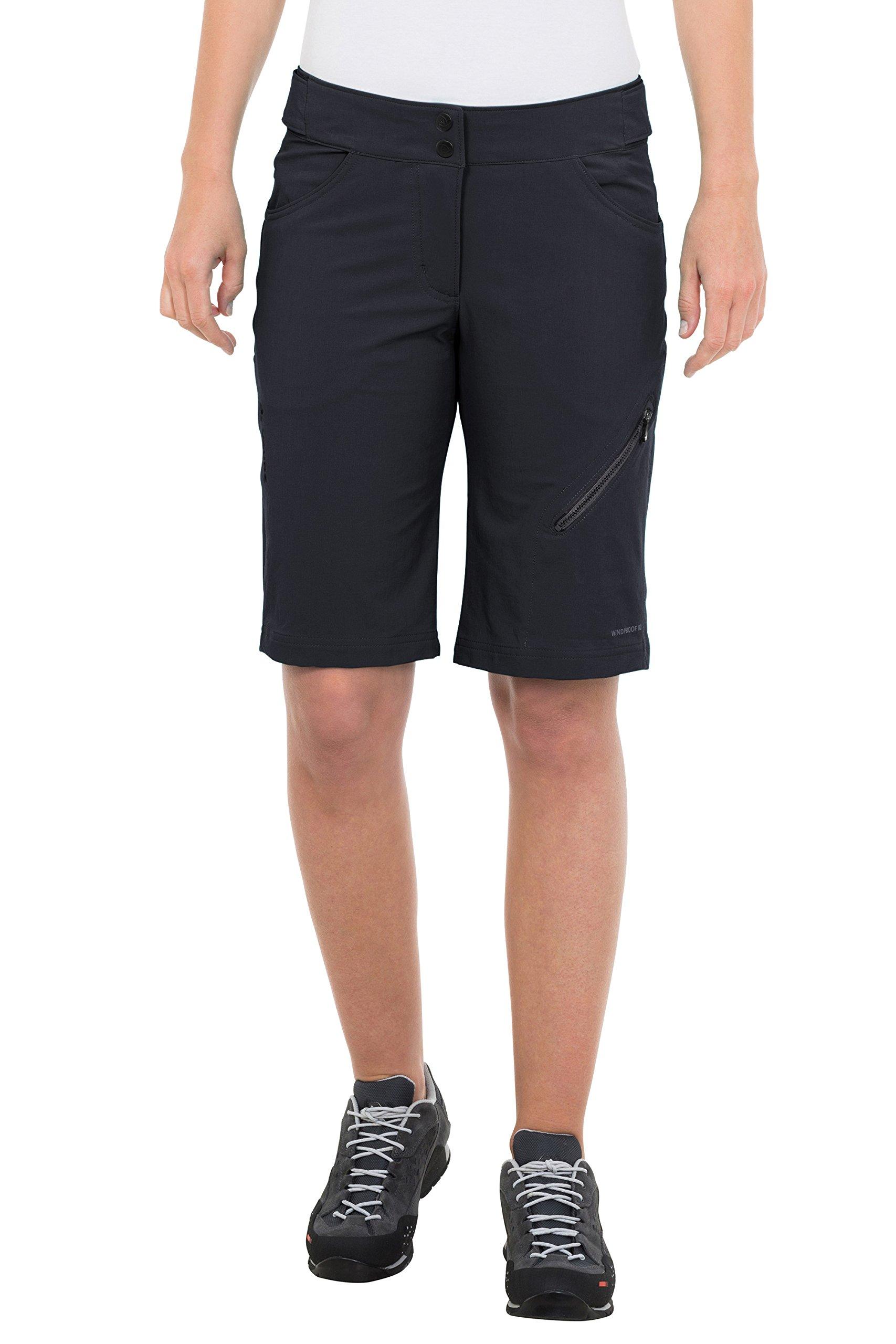VAUDE Women's Elbert Shorts, Black, 38