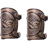 pys Archery Arm Guard, Full Forearm Leather Adjustable Bow Arm Guards, Traditional Medieval Sleeve Bracer and Youth…