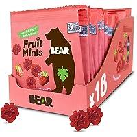 BEAR Fruit Snack Minis, Bite Sized Snacks for Kids, Gluten Free, Vegan, Non GMO, Strawberry, 0.7 Oz, Pack of 18