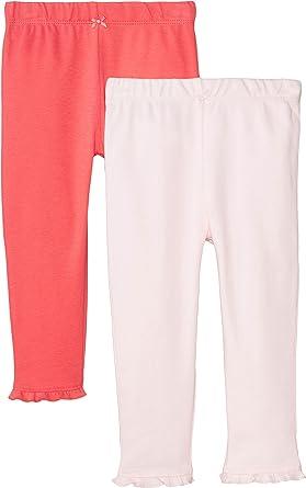 Ruffle Dots Pull-On Pants Pink//Black//White Carters Baby Girls 2-pk