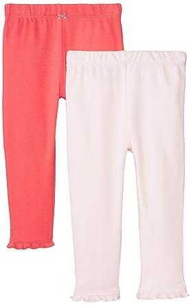 5be63978b Carter's Baby Girls' 2-Pack Pants - Pink/Poppy - Newborn