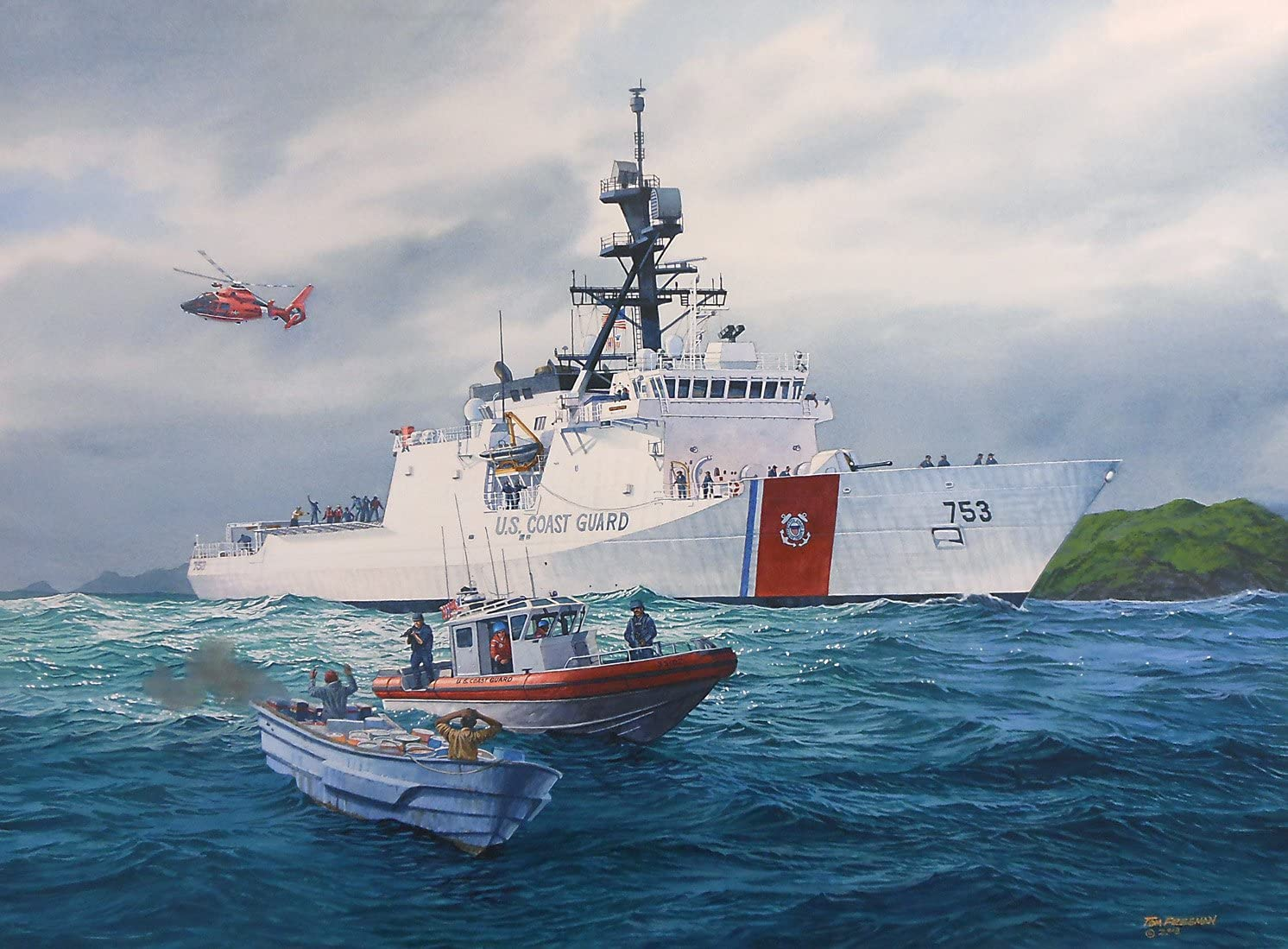Napeto u Crnom Moru: Uplovila Američka obalna straža, Rusi brodovi ispalili protubrodske rakete. 81vF9HWqVvL._AC_SL1492_