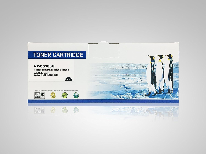Super Supply Compatible Brother TN550//TN580 TN-550//TN-580 Black Toner Cartridge High Yield