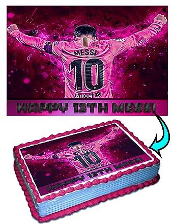 Messi Barcelona FC – Decoración para tartas personalizada ...