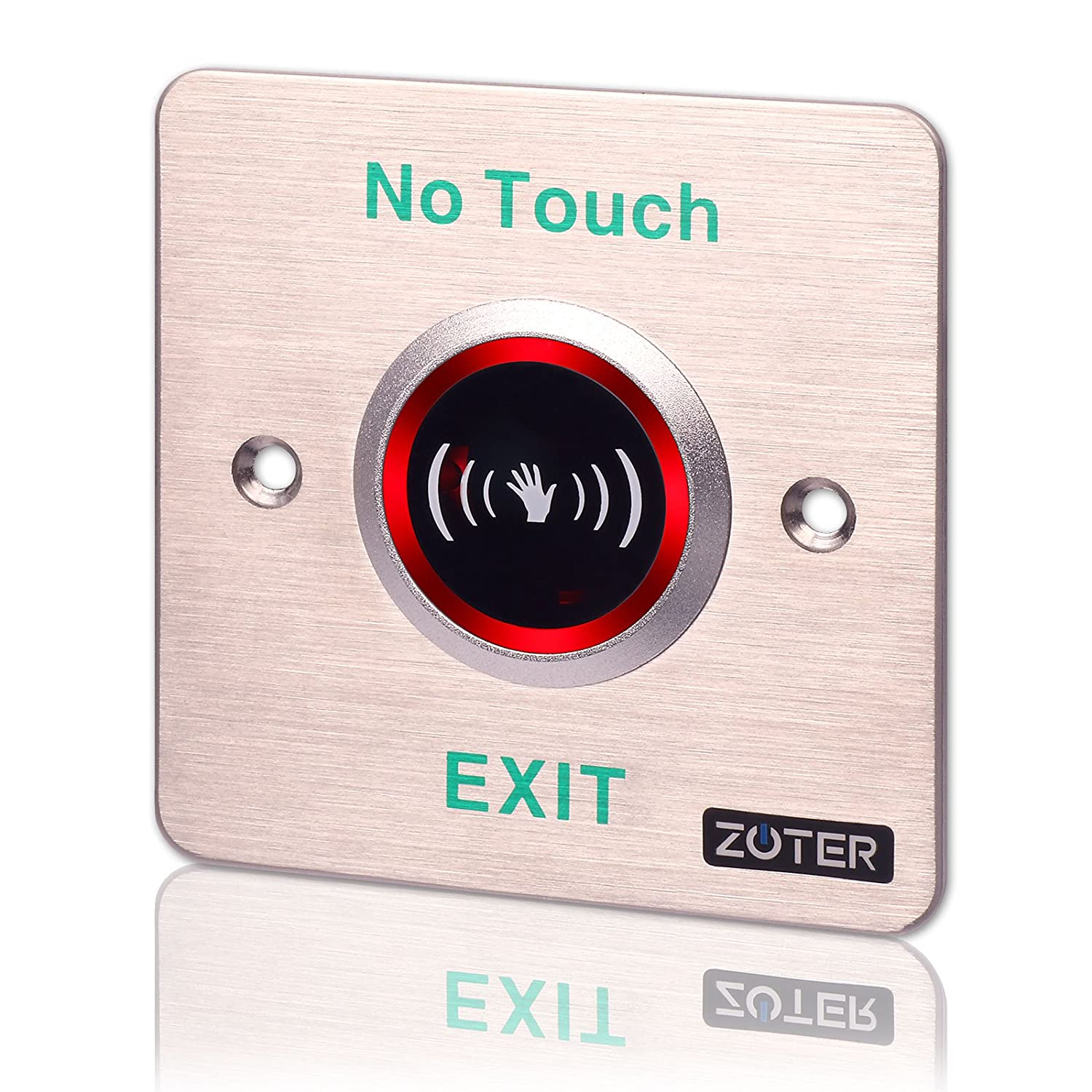 Exit Switch, ZOTER Touchless Release Button No Touch Infrared Sensor Time Delay Hygiene DC 12V Stainless Steel: Amazon.com: Industrial & Scientific
