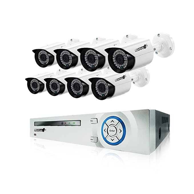 Amazon.com : LOGAN XVR All in One Video Security System 8ch 1080N / 4 Bullet 1MP Cameras (8CH, 4CAM) : Camera & Photo