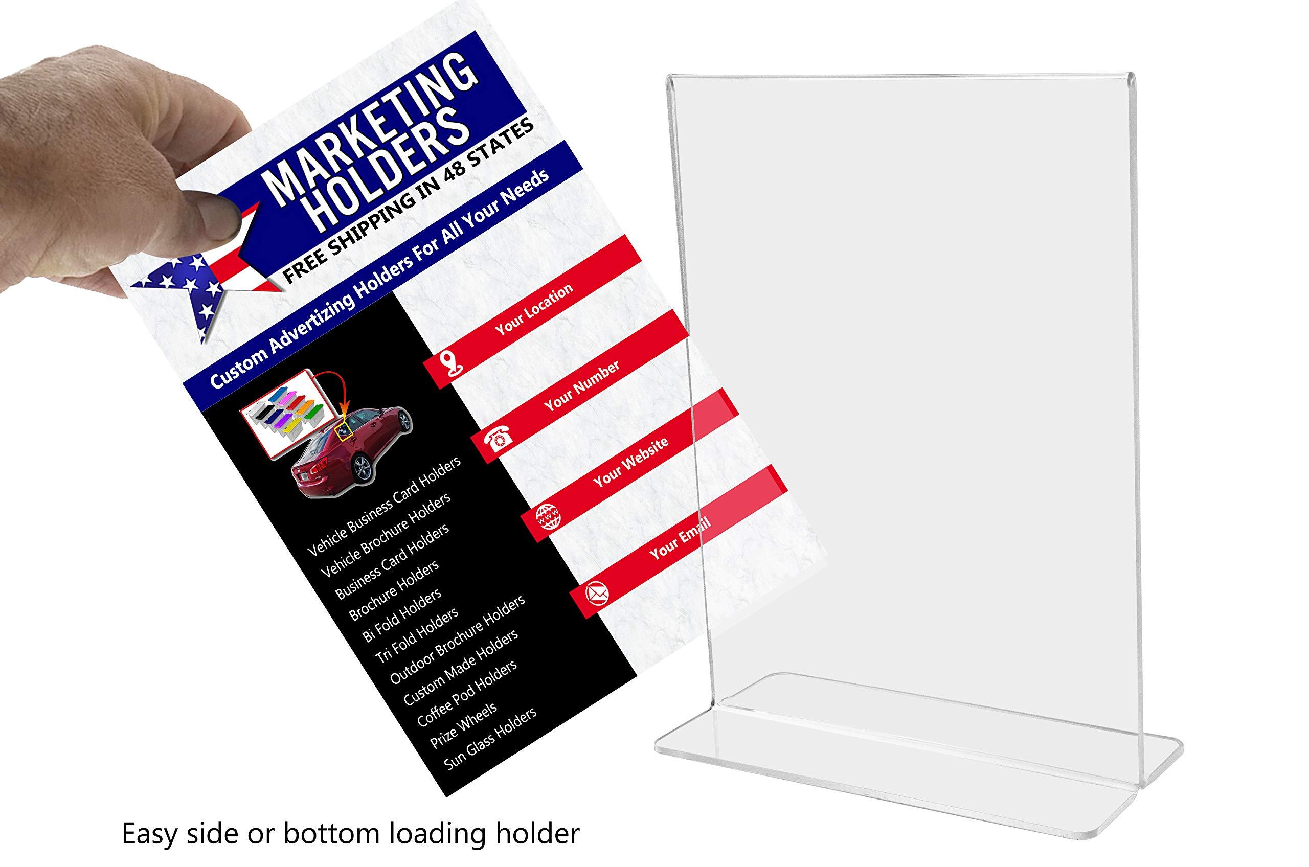 Marketing Holders Sign Holder Literture Flyer Display Stand Bottom Load Frames 11''w x 14''h Pack of 10 by Marketing Holders (Image #4)