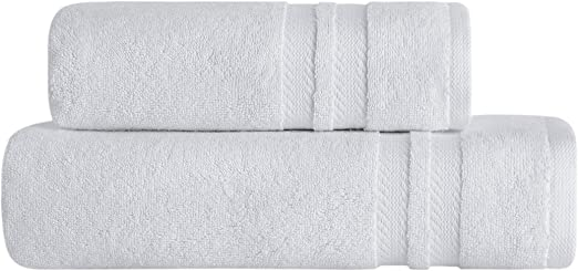 2 x WHITE  BATH TOWELS ULTRA ABSORBENT 600GSM HOTEL QUALITY TURKISH COTTON